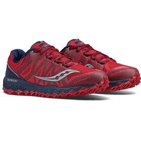 saucony Peregrine 7 Running Shoes Men Red/Navy